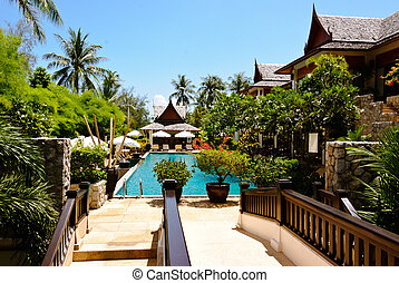 Holiday resort - View of the swimming pool at holiday resort...