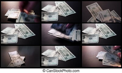 American Money Montage One American Twenty Dollar Bills