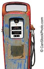 isolated vintage gas pump