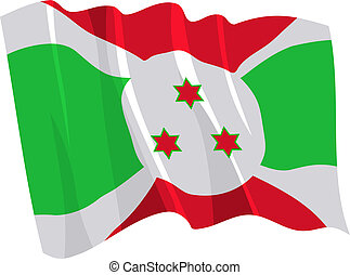 Political waving flag of Burundi