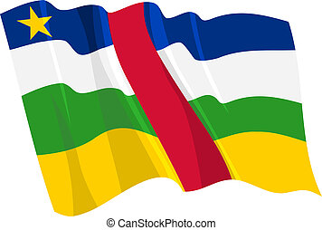 flag of Central African Republic - Political waving flag of...