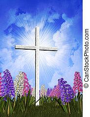 Ostern, Kreuz, Frühling