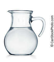 Water jug - Glass jug of water isolated on white background