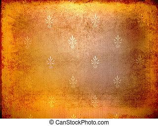 Wallpaper grunge Orange - Orange wallpaper grunge victorian