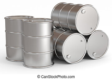 Oil barrels.  Computer generated image.