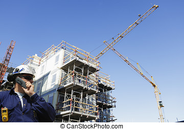 construction worker and industry - construction-worker with...