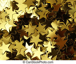Star Shape Confetti - A closeup shot of a bunch of star...