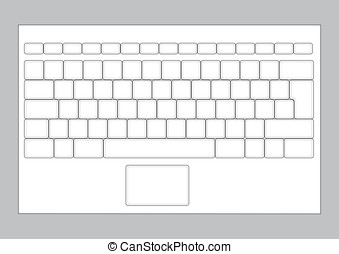 Laptop keyboard layout - A blank keyboard layout for laptops