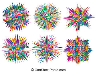 Splashes - Set of vector paint splashes which can be...