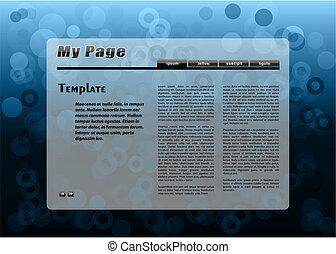 blue webpage