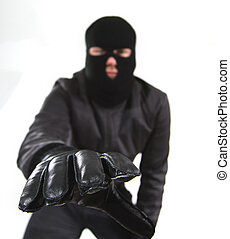 Burglar reaching for camera