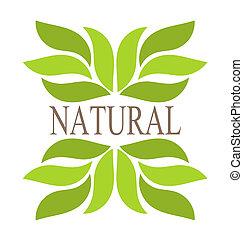 Green leaves - Natural green leaves border. Vector...