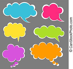 Speech bubbles - Set of colorful speech bubbles Vector...