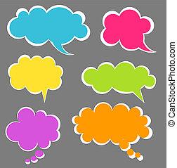 Speech bubbles - Set of colorful speech bubbles. Vector...