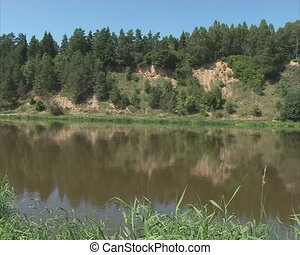 river shore landscape