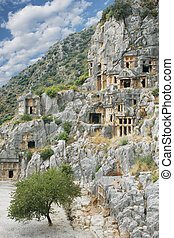 ancient town Demre in Turkey - ancient stone town Demre in...