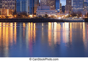Downtown Portland, Oregon and Willamette River