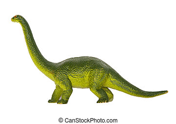 Dinosaur Diplodocus isolated on the white background