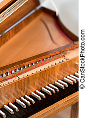 Harpsichord Keyboard - Old harpsichord spinet