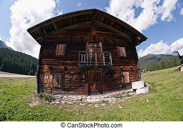 Typical Dolomites House, Italy