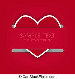 Heart background for love. Vector illustration. Eps 10