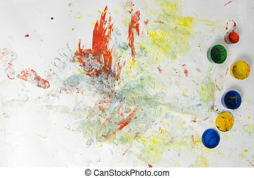 Paints and hand painter picture - Paints and hand painter...
