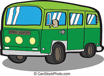 Minivan Cartoon car - Minivan Cartoon car VECTOR