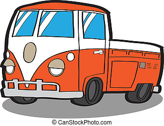 Minivan . Cartoon car - Minivan Cartoon car VECTOR