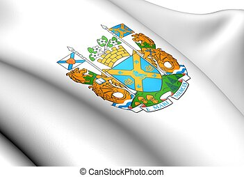 Halifax Regional Municipality Coat of Arms, Canada Close Up...