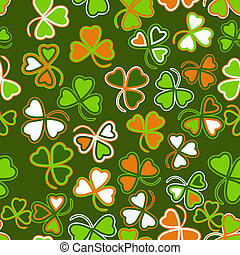Trefoil seamless st. Patrick%u2019s Day background.