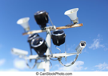Security system - Surveillance Security Cameras or CCTV on...