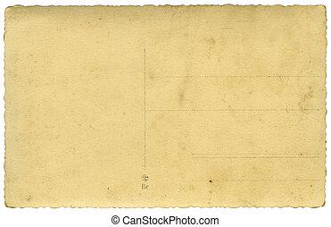 vintage postcard - blank backside of vintage postcard with...