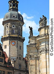 Dresden urban scenics - Beautiful urban scenic in Dresden,...