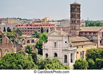 Ancient Edifices - Old edifices in the ancient part of Rome