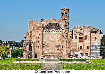 Edifice - Antique edifice in the ancient part of Rome
