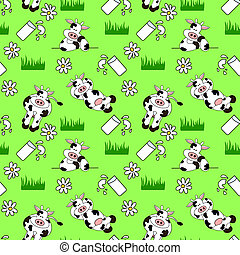 Seamless Cow Background - Illustration design of a seamless...
