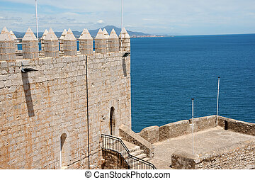 Pope Luna's Palace in Peniscola, Spain - View of Pope Luna's...