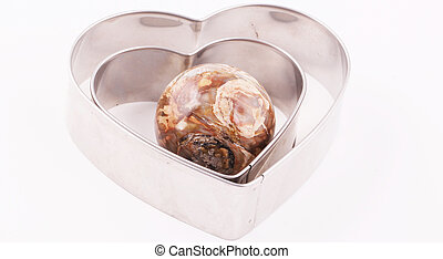 Heart shapes - Heart shaped pastry cutters with a ball of...