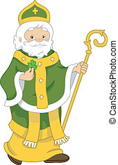 St. Patrick - Illustration of Saint Patrick