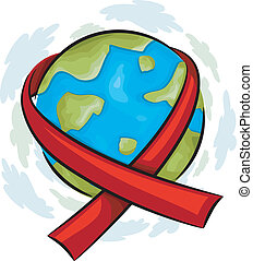 World AIDS Awareness Icon