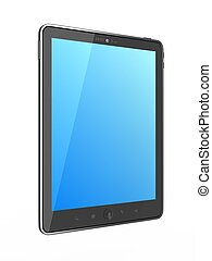 High-Detailed  Ipade - like generic Portable Tablet PC on White Background, 3D Render.