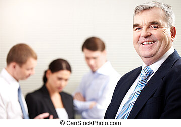 Mature businessman - Portrait of a cheerful mature...