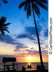 Romantic Sunset - Romantic sunset on a tropical island