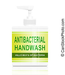 Antibacterial hand wash. - Illustration depicting an...