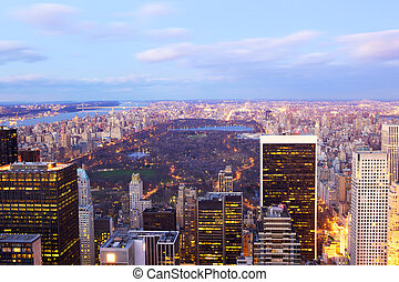 New York City Central Park aerial view