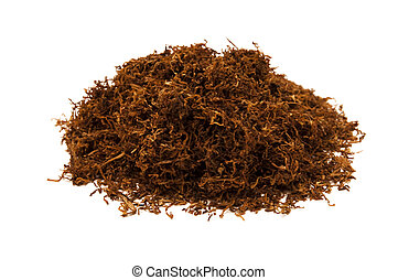 tobacco - a bunch of tobacco isolated on white background