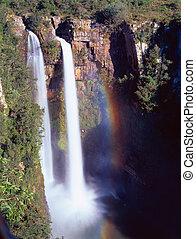 Mac Mac Falls near Sabie: The 65 m high Mac Mac Falls in the...