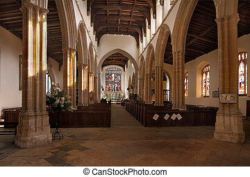 Church Interior Stoke-by-Nayland - The interior of St Marys...