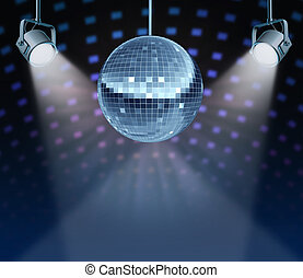 Dance Night - Dance night disco ball as a mirror ball symbol...