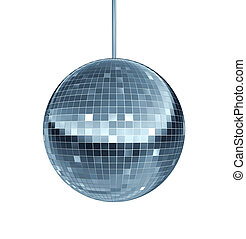 Disco Ball - Disco ball as a mirror ball symbol of fun and...